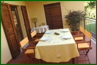 Umbria - Villa Collepera: the terrace